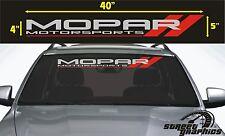 Mopar Motorsport Windshield Vinyl Decal Sticker