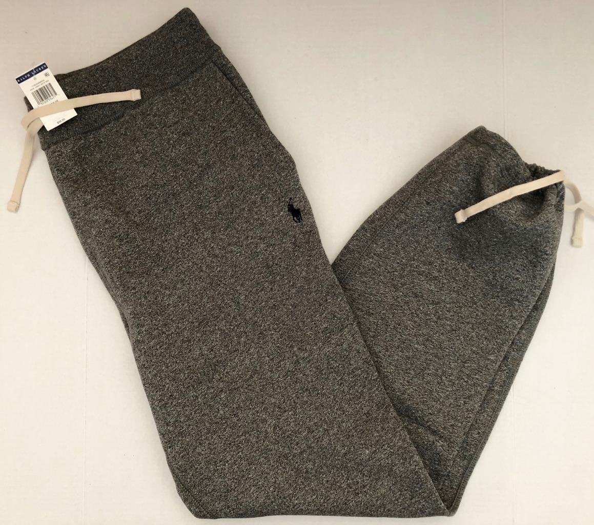 Polo Ralph Lauren Men M NWT 98 grau Cotton Fleece Sweatpant Pony Ankle Tie NEW