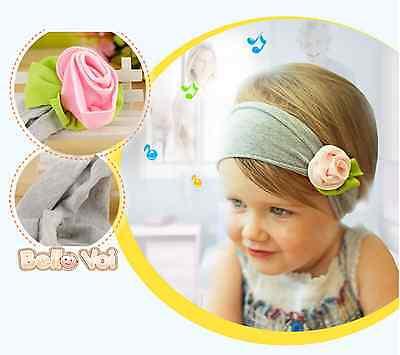 Pink Flower Bow Headband Hairband Accessories Girls Baby Infant Toddler Children
