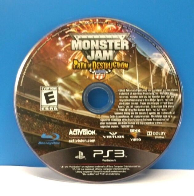 Monster Jam: Path of Destruction (Sony PlayStation 3, 2010)(DISC ONLY) #12776