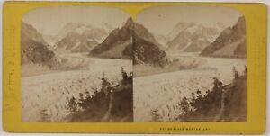 Chamonix Mer Da Tergicristallo Montenvers Francia Foto - Th1n22 Vintage Albumina
