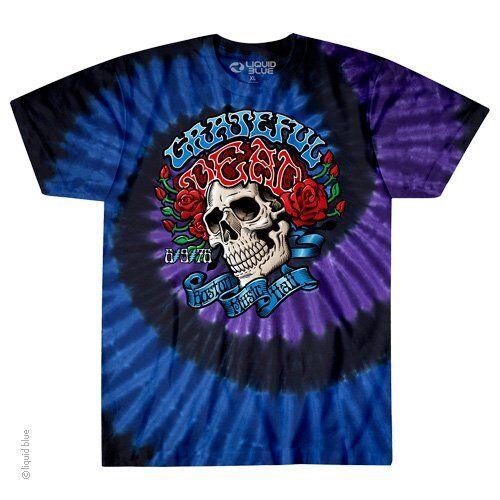 GRATEFUL DEAD-BOSTON MUSIC HALL-BERTHA-TIE DYE TSHIRT S-M-L-XL-XXL,3X,4X,5X,6X