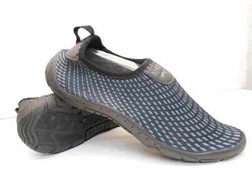 Badeschuhe weiche und leichte Herren-Softstretch Strandschuhe schwarz-grau