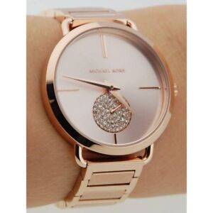 acb5e3269eec Michael Kors MK3640 Women s Portia Rose Gold-Tone Watch 696554227064 ...