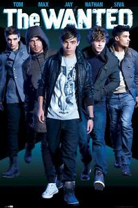 THE WANTED POSTER ~ NAMES 24x36 Music Max George Siva Jay Tom Nathan