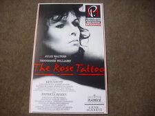 The ROSE TATTOO  Julie Walters & Ken Stott  PLAYHOUSE Theatre Original Poster