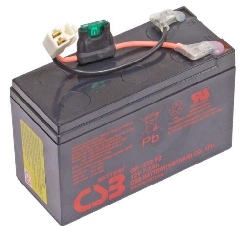 Razor e90 Batteria di ricambio scooter CSB gp1272 f2 12v 7.2ah raz-e90