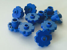 *NEW* LEGO 10 Large Rounded Flower 2x2 BLUE with OPEN STUD