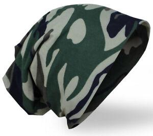 Damen Herren Uni Camouflage ARMY Mütze Beanie Slouch sehr leicht Top Qualität