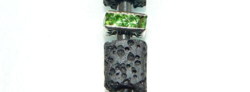 Bisutería pendiente ohrhänger lava negro pedrería multicolor selección 304n