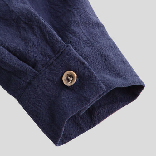 INCERUN Men/'s 100/%Cotton Henley T-shirt Top Long Sleeve Casual Smart Shirts Tee