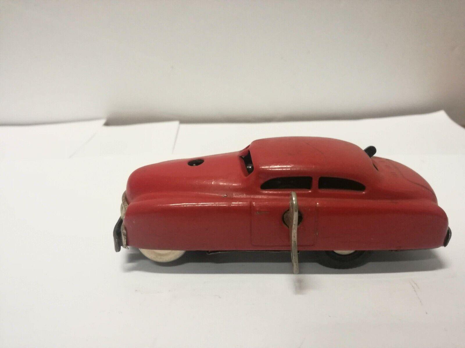 SCHUCO VARIANTO LIMO CAR 3041 rojo CLOCKWORK WINDING KEY 1955 CAR MODEL