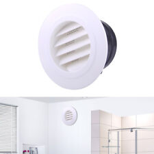 92x148x72mm Round Air Vent ABS Louver Grille Cover White Soffit Vent