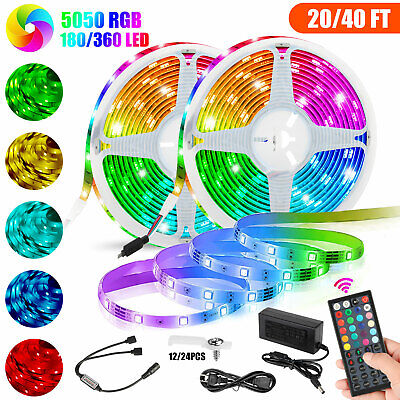 10M Flexible Strip Light RGB LED SMD Fairy Lights Room Party Remote Fast-ship
