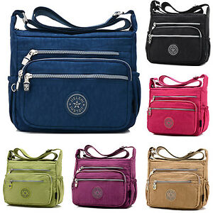 Image Is Loading Women Waterproof Canvas Messenger Crossbody Handbag Designer Solid