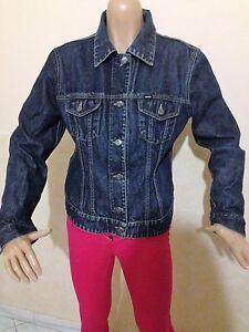 Giubbino-jeans-GAS-TAGLIA-SIZE-L-DONNA-JACKET-MAGLIA-GIACCA-WOMAN-COTONE-P-1260