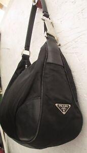 Détails Prada Tbeg À Sac Main Bag Sur Toile Cuir En Et Authentique Vintage kX0O8PNnwZ