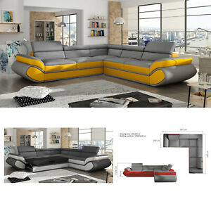 Modern 4 Seater Corner Sofa Bed