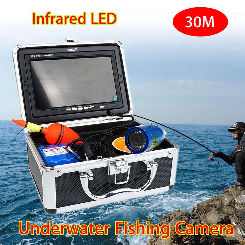 Boblov 30m Infrarrojo 7  1000TVL Cámara De Vídeo Subacuática Buscador de los pescados herramientas de pesca