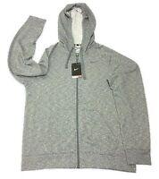 Nke Dr-fit Training Hooded Hoodie - Grey Adult Large