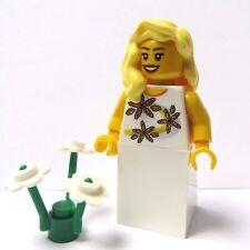 Lego Female Girl Minifigure Bride Maid Blonde Wavy Hair Wedding Flower
