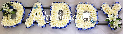 Artificial Silk Funeral Flower Any 5 Letter Daddy Chrysanthemum Tribute Wreath