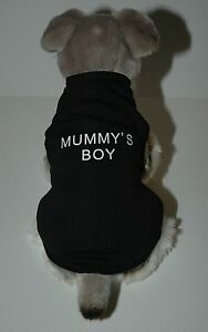 Mummy-039-s-Boy-Black-Dog-Shirt-Tank-Top-8-Sizes-XXS-to-XXXL
