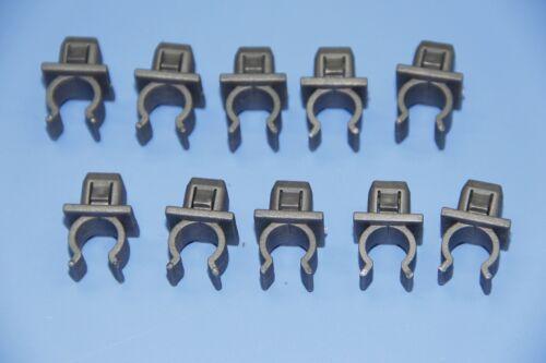 SKODA GREY HOOD RETAINER BONNET ROD STAY GRIPPER HOOK ARM CLIPS 10PCS
