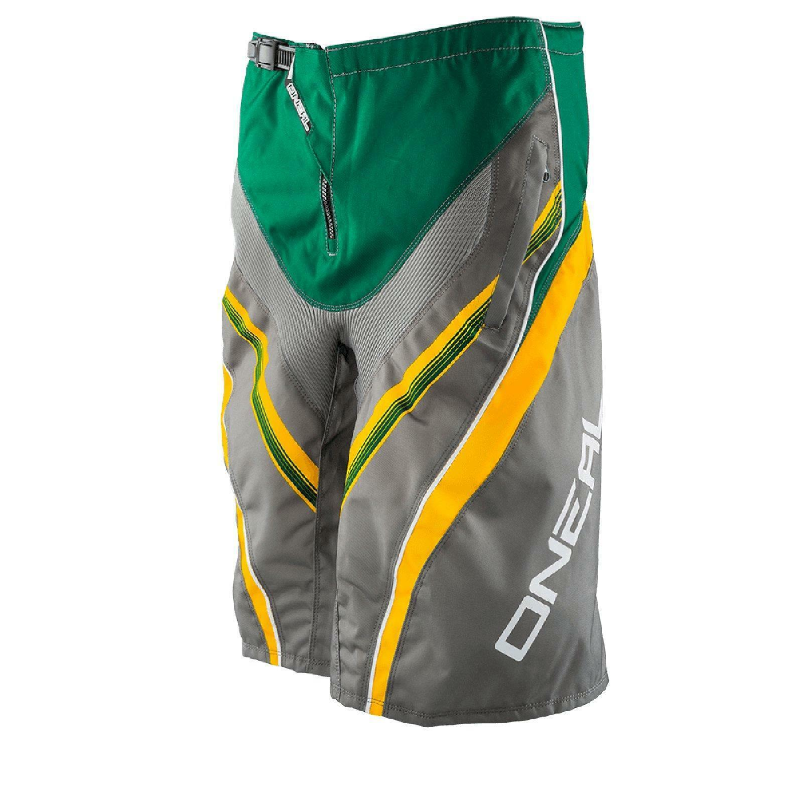 ONeal Element FR Short green grey Downhill MTB Freeride Mountainbike Fahrrad Hose
