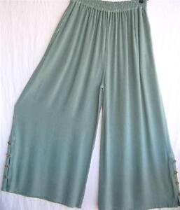 Pantalon ~ ~ Menthe coton Libre l palazzo ~ 1x Xl corsé fraîche Ho Jambe Coton ~ large ~ Tienda ~ IvwYxE0