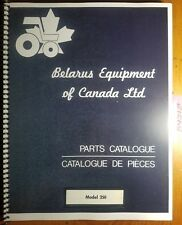 Belarus 250 Tractor Parts Catalog 1081 English Amp French