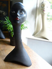 vintage tall swan neck mannequin bust head shop display millinery jewellery