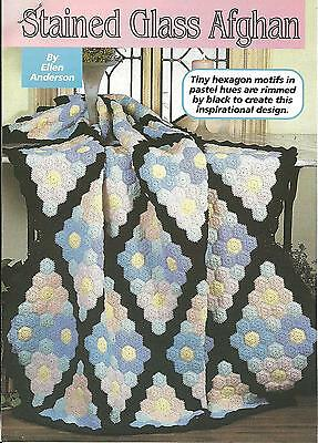 *Stained Glass Afghan crochet PATTERN INSTRUCTIONS