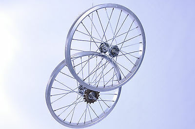 PAIR 16 x 1.75 SINGLE SPEED BIKE WHEELS,ALLOY RIM FOLDING BIKE OR CHILDS BIKE