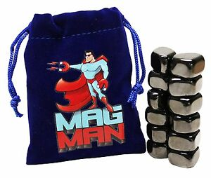 Mag-Man-Hematite-Magnetic-Stones-12-Tumbled-Polished-Magnet