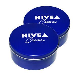 Genuine-Authentic-German-Nivea-Cream-Metal-Tin-13-54oz-400ml-2-pack