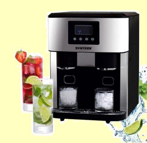 Digitaler EISWÜRFELBEREITER Eiswürfelmaschine mit CRUSHED ICE Funktion und LED
