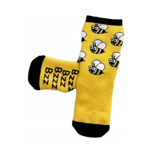 Promo Bugzz Bee Socks Childrens Toddlers Non-Slip Wellie Boot Slipper Socks