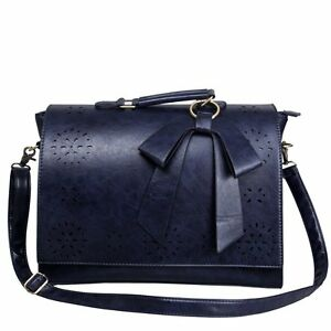Image is loading Women-Faux-Leather-Bag-Briefcase-Shoulder-Laptop-Messenger- 6f81a786a5