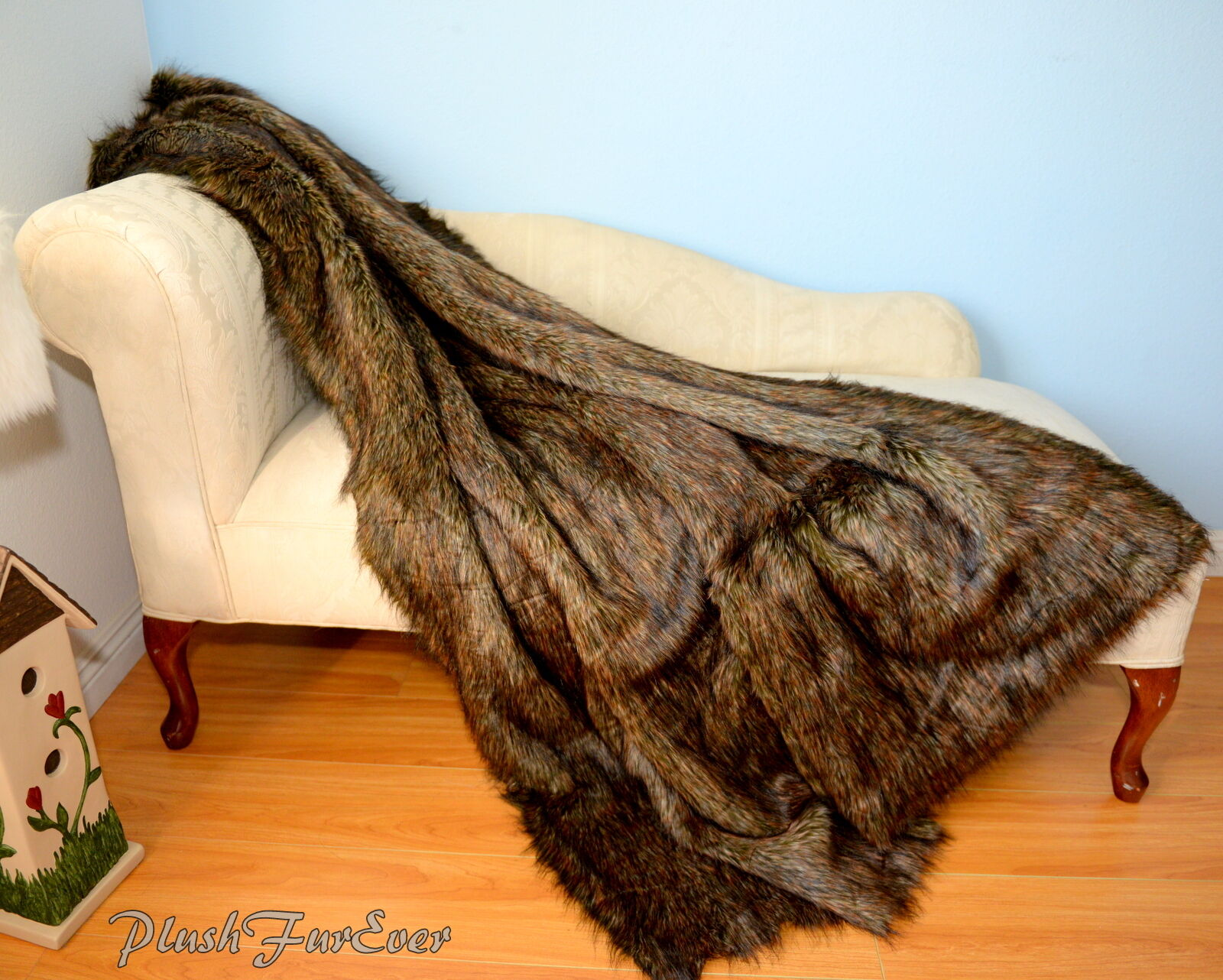 60  72  84  Rectangle Exotic Multi Wolf Fur Comforters Blankets Sofa Couch Bed