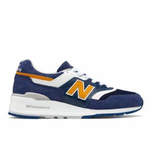 NIB-11-5m-997-034-CROC-BLUE-039-039-NEW-BALANCE-MADE-IN-USA-Navy-Suede-Mustard-M997PAN