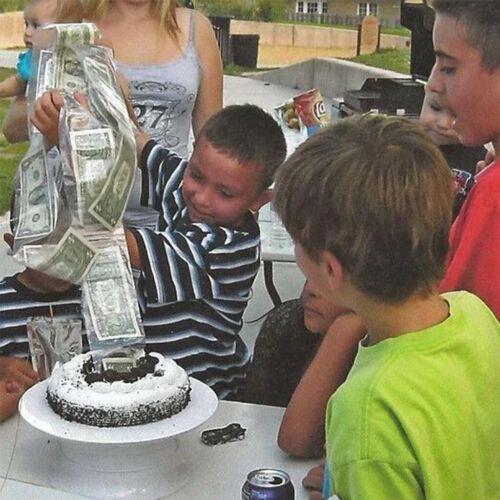 Cake ATM Happy Birthday Cake Topper Money Box Funny Cake ATM Happy Birthday