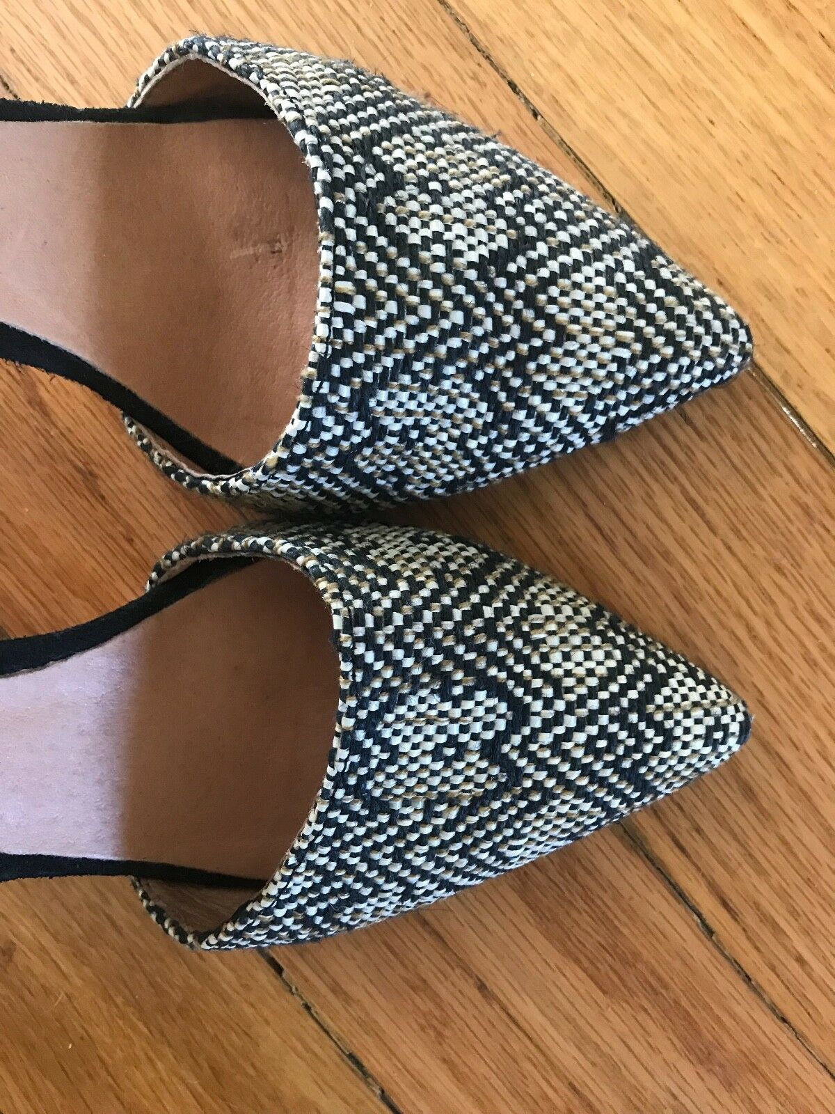 Howsty Luena Black Suede Suede Suede and Raffia Pumps (Size 38) Made for Anthropologie eecd5b