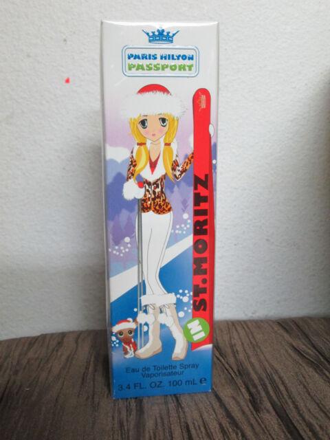 PASSPORT ST,MORITZ  Paris Hilton PERFUME 3.4 OZ / 100 ML Spray EDT  NEW IN BOX