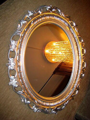 Specchio Parete 58 x 68 Antico Barocco Ovale Wanddeko Nuovo 120 Argento 3