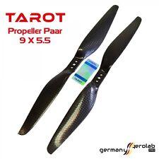 1 Paar CFK TAROT 9x5.5 Carbon Propeller Luftschraube (1x CW / 1x CCW) f.Copter