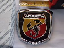 FIAT 500 ABARTH  BOOT TRUNK  BADGE EMBLEM 735496473 GENUINE ORIGINAL