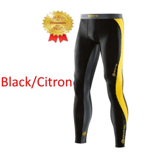 ALL BRAND NEW Skins DNAmic Mens Compression Long Tights BlackCitron