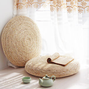 Round-Straw-Weave-Handmade-Pillow-Floor-Yoga-Chair-Seat-Mat-Tatami-Cushion
