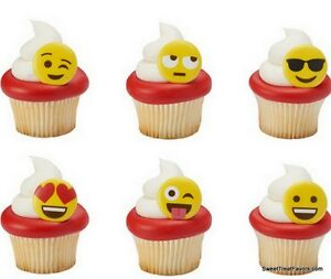 Image Is Loading Emojis CupCake Cake Topper 12 18 24 Favor